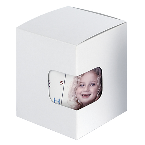 Geschenkkarton mit Sichtfenster, weiß
